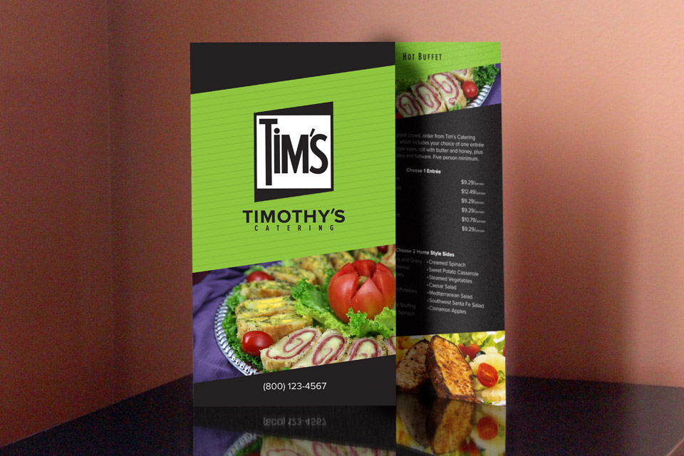 Tim's Catering Menu