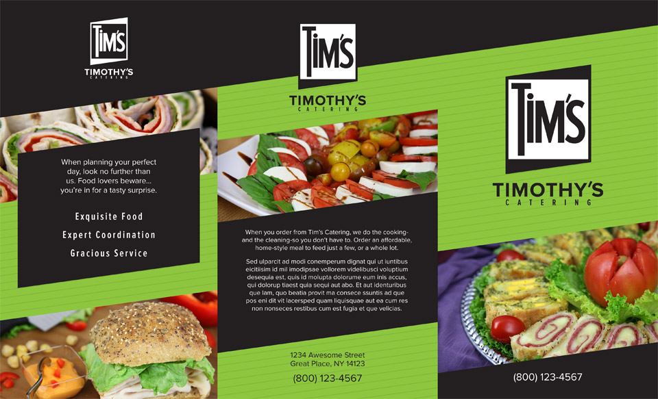 Tim's Catering Menu - outside