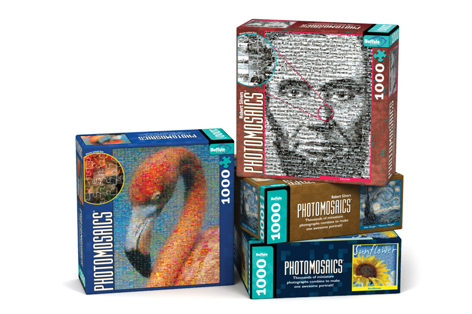 Photomosaic Puzzle Series