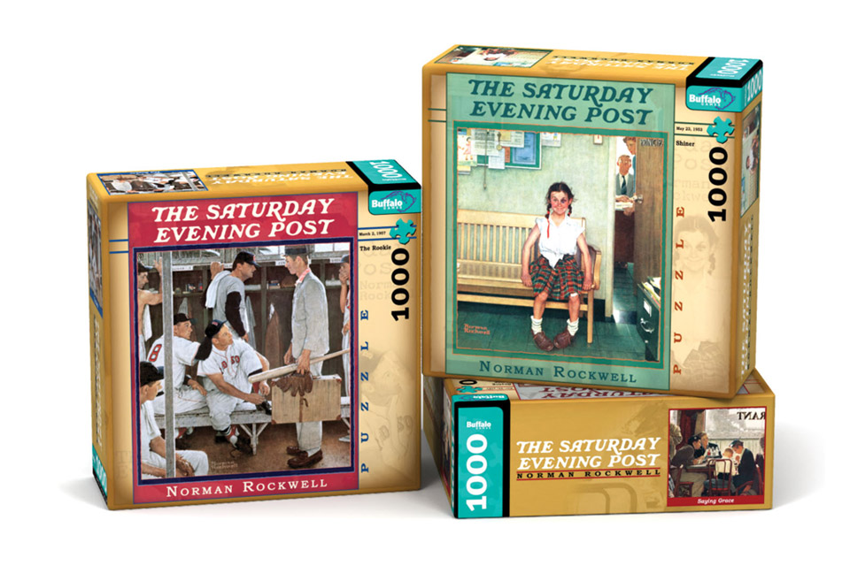 Norman Rockwell Puzzle Packages