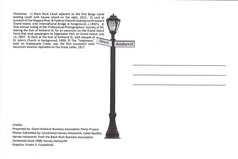 Grant Amherst Postcard, back