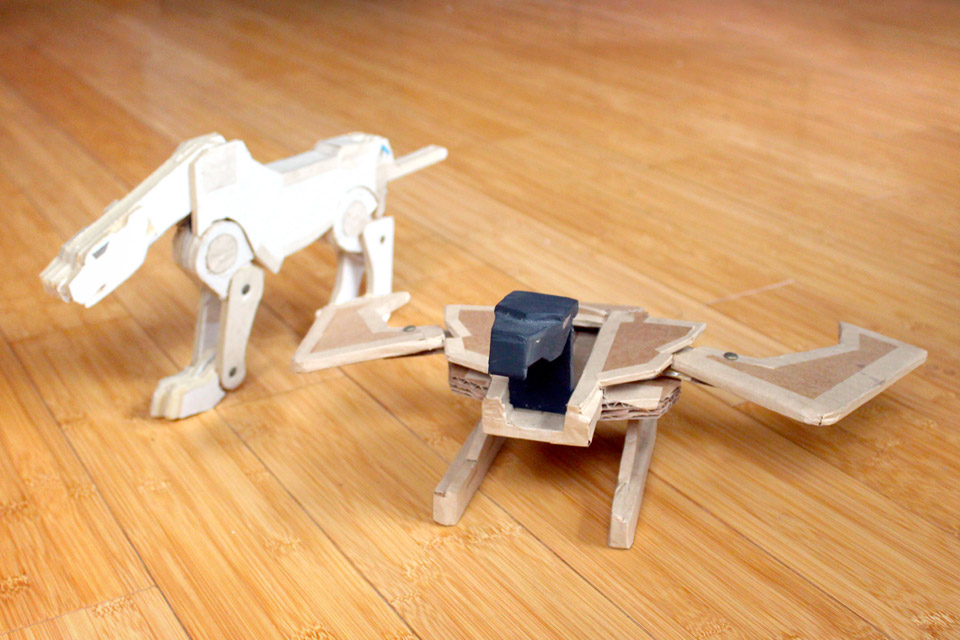 Transformer our of cardboard and foam-core, 1988