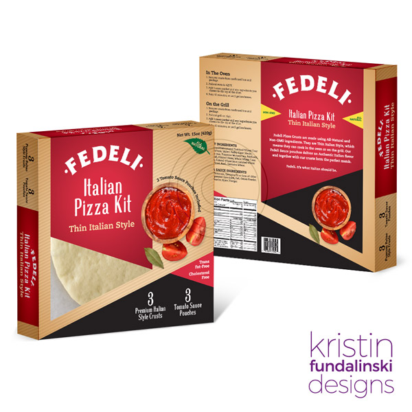 Fundalinski - Package label: Fedeli Pizza Kit Concept