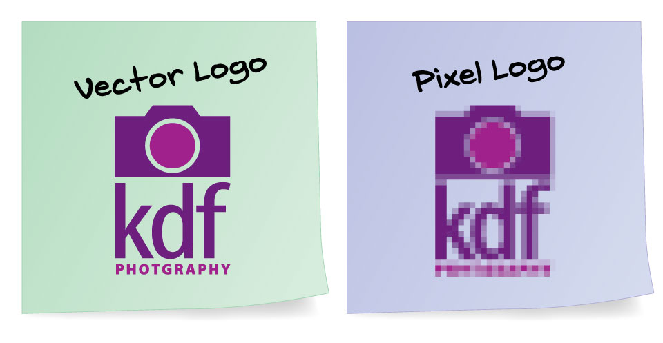 vector logos vs pixel logos