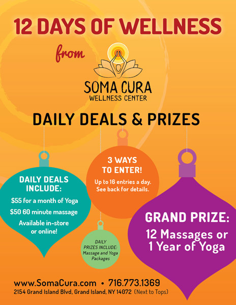 Fundalinski - Flyer Design - Soma Cura Holiday Promotions