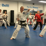 Performing Yul-Gok form at a belt test.